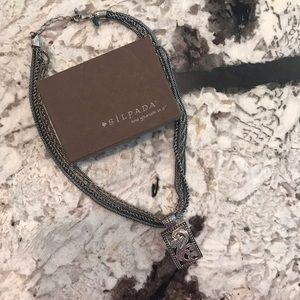 Silpada multi-strand necklace and Paisley pendant